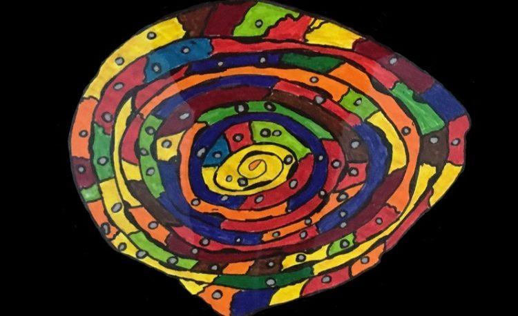Hundertwasser-Bild eines Schülers